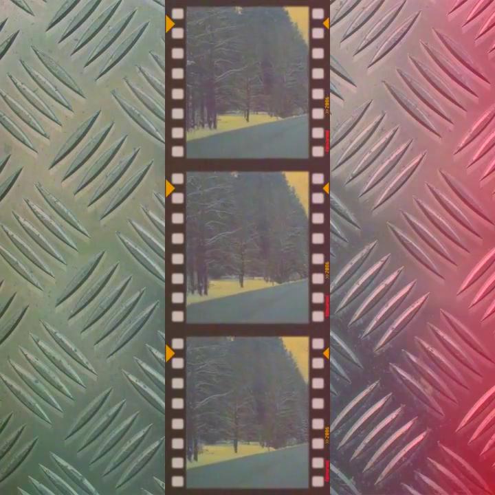 Color Vintage Filmstrip Projection Pack Look Sample