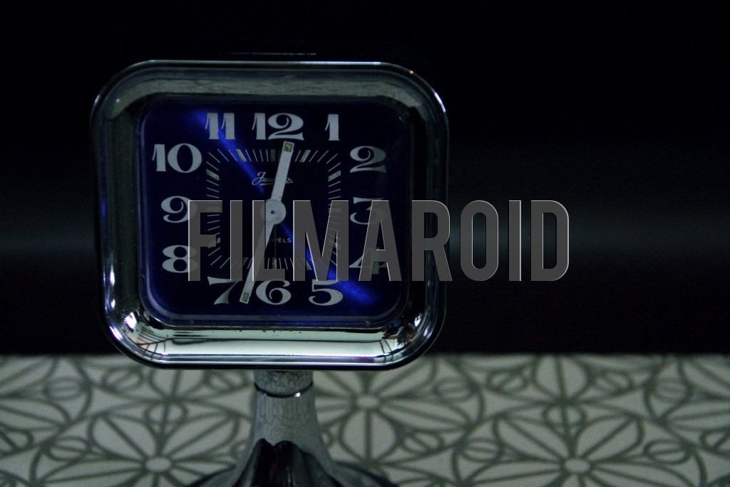 A 70s Jawaco blue desk alarm clock with retro style