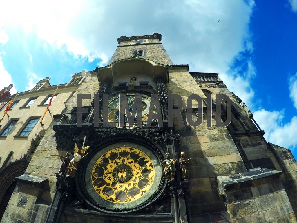 The Astronomical Clock in Prague viewed by a fisheye lens