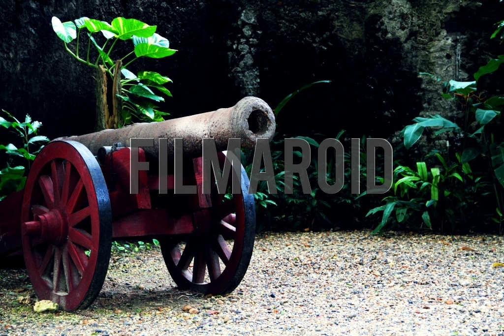 Cannon used during colonial times in Cartagena Colombia