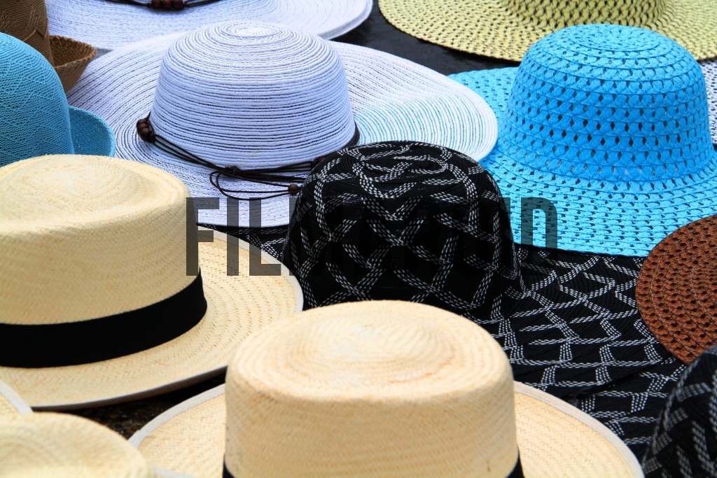 Colorful hats found in touristic site in Cartagena Colombia