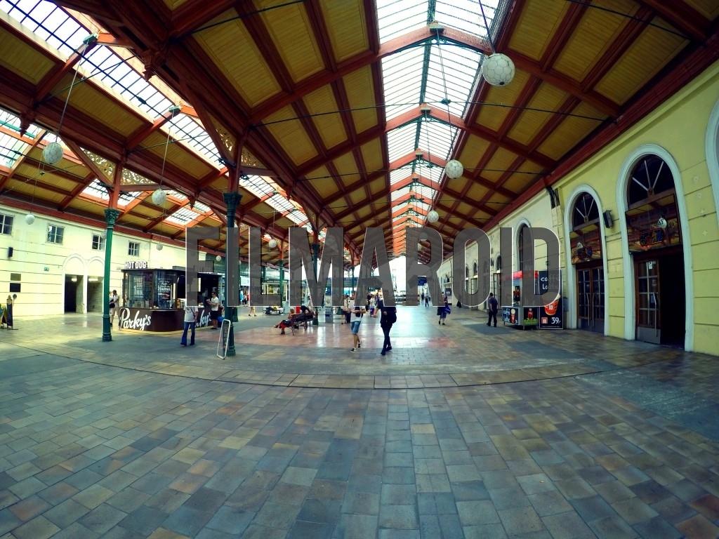Interior view of a European Train Station Masarykovo Nadrazi in the center of Prague