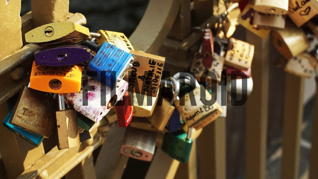 Locks from a bridge in Prague