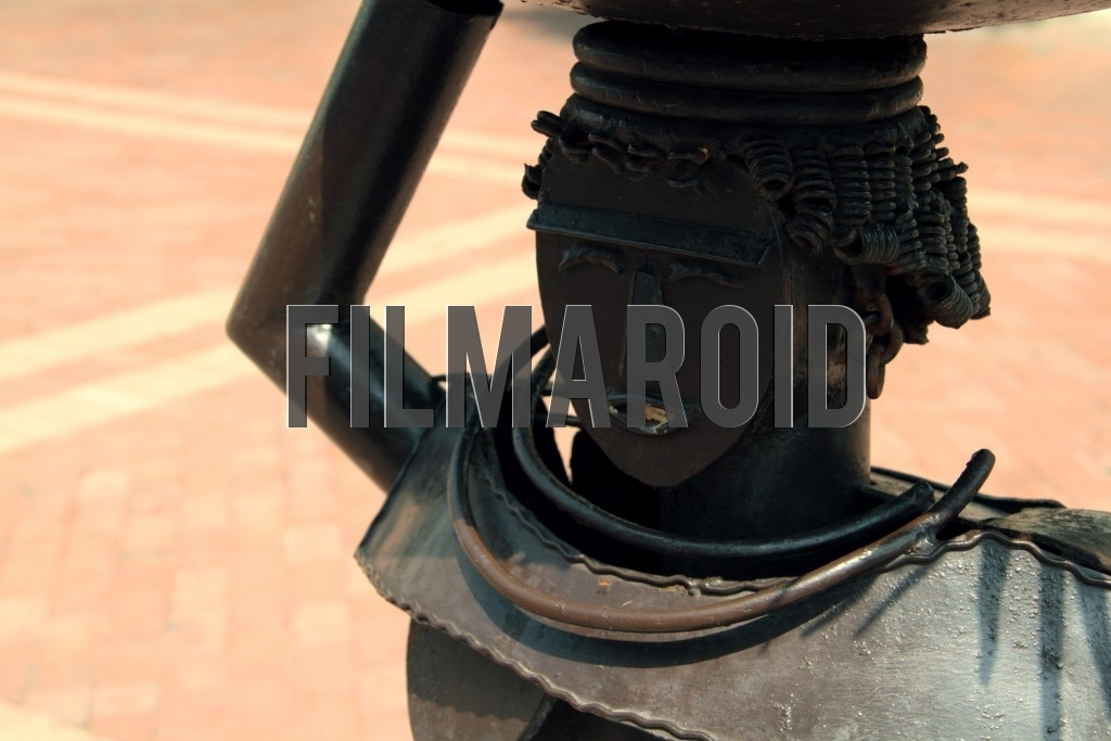 A metal statue of a Palenquera found at the Saint Peter Claver Plaza in Cartagena Colombia