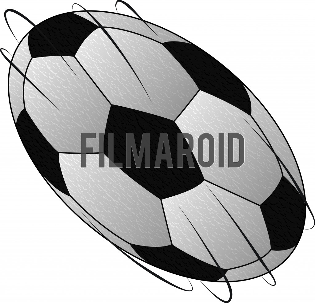 Beautiful classic black and white soccer ball design in motion - Classic black and white design of a soccer match ball vector illustration moving in air with leather texture