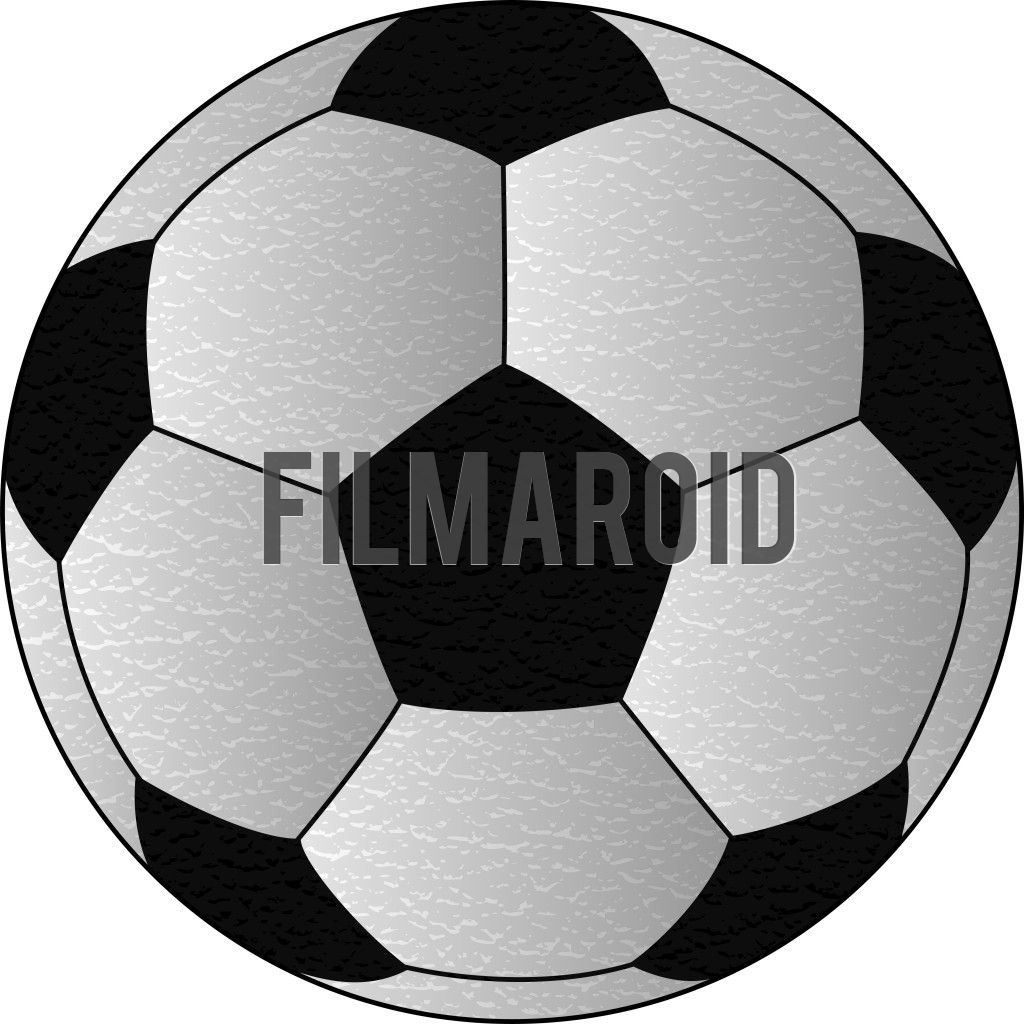 Classic black and white design of a soccer match ball vector illustration with leather texture