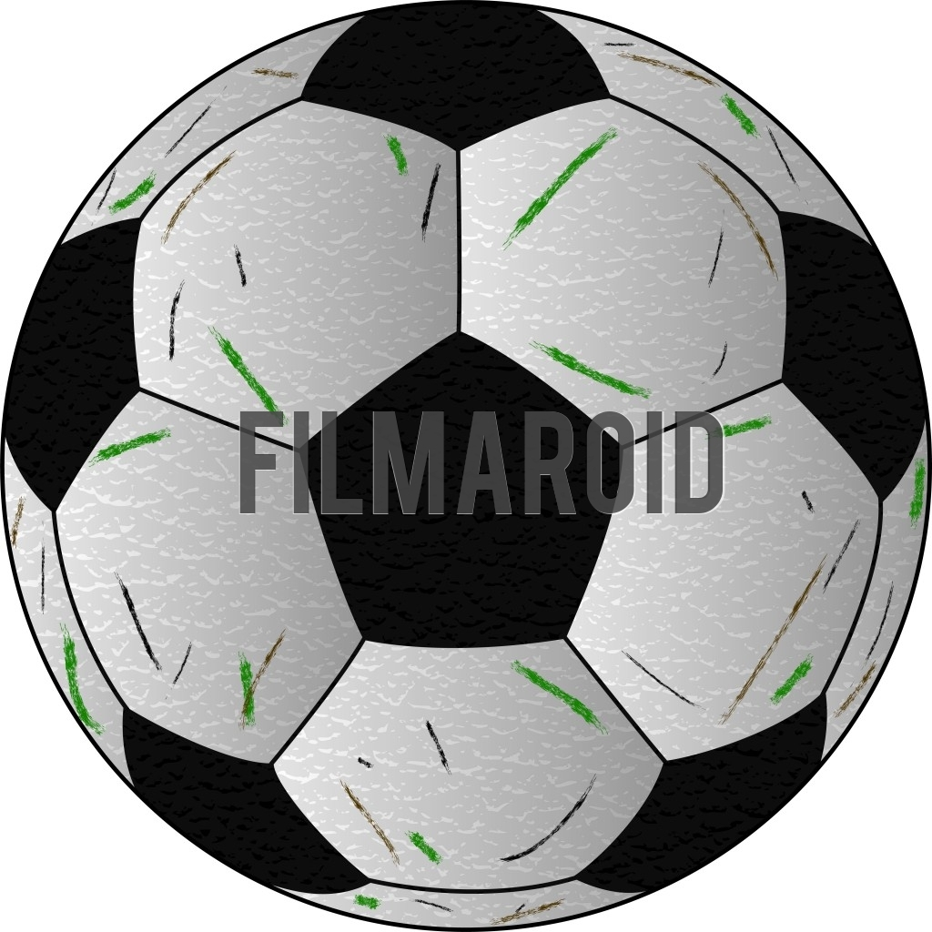 Classic black and white design of a soccer match ball vector illustration with scratches and leather texture