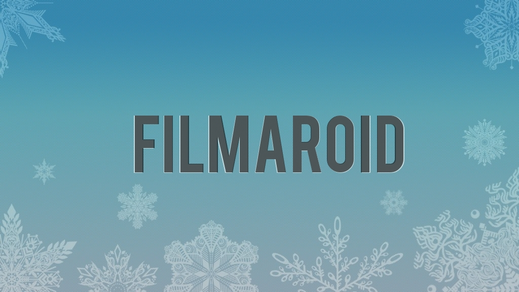 A group of different snowflakes falling over a blue gradient background with a halftone pattern effect