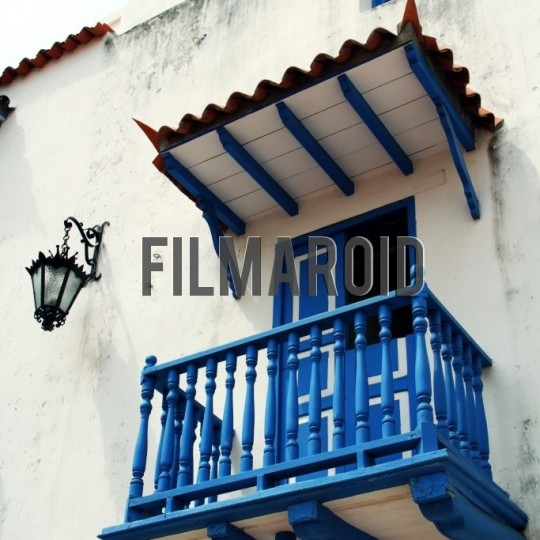 Picturesque colonial balcony cartagena colombia - A collection of stock photos about Travel