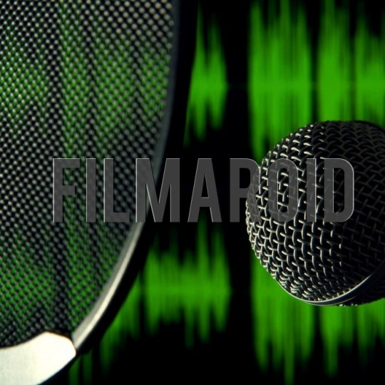 Microphone with pop filter and sound waves background - A collection of stock photos about Technology