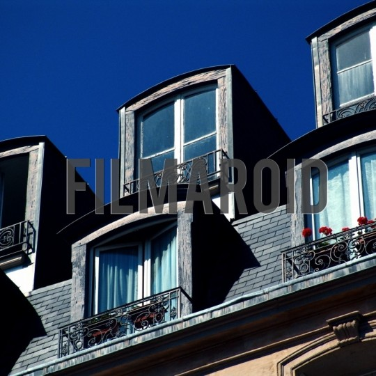 Parisian rooftop windows - A collection of stock photos from the City of Light and Love - Paris