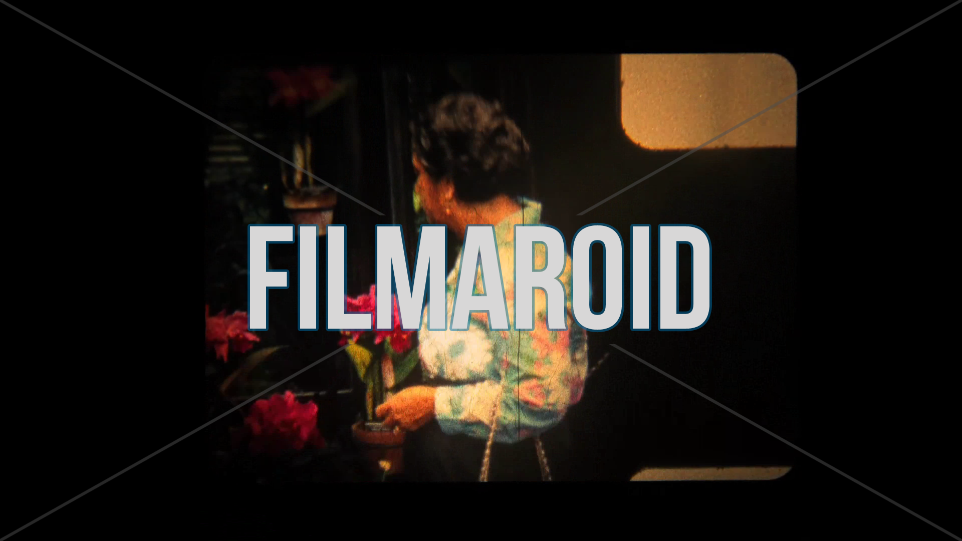 8mm footage of an older lady looking at some flowers - Vintage 8mm footage of an older lady taking a look at beautiful flowers and choosing which ones to buy in her colorful flower pattern blouse