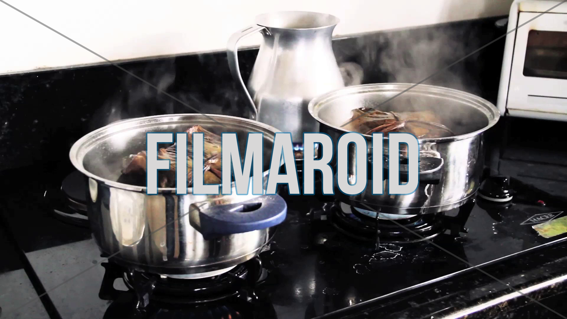 Set of colombian tamales being cooked in boiling water with lots of steam - A collection of stock footage about Food