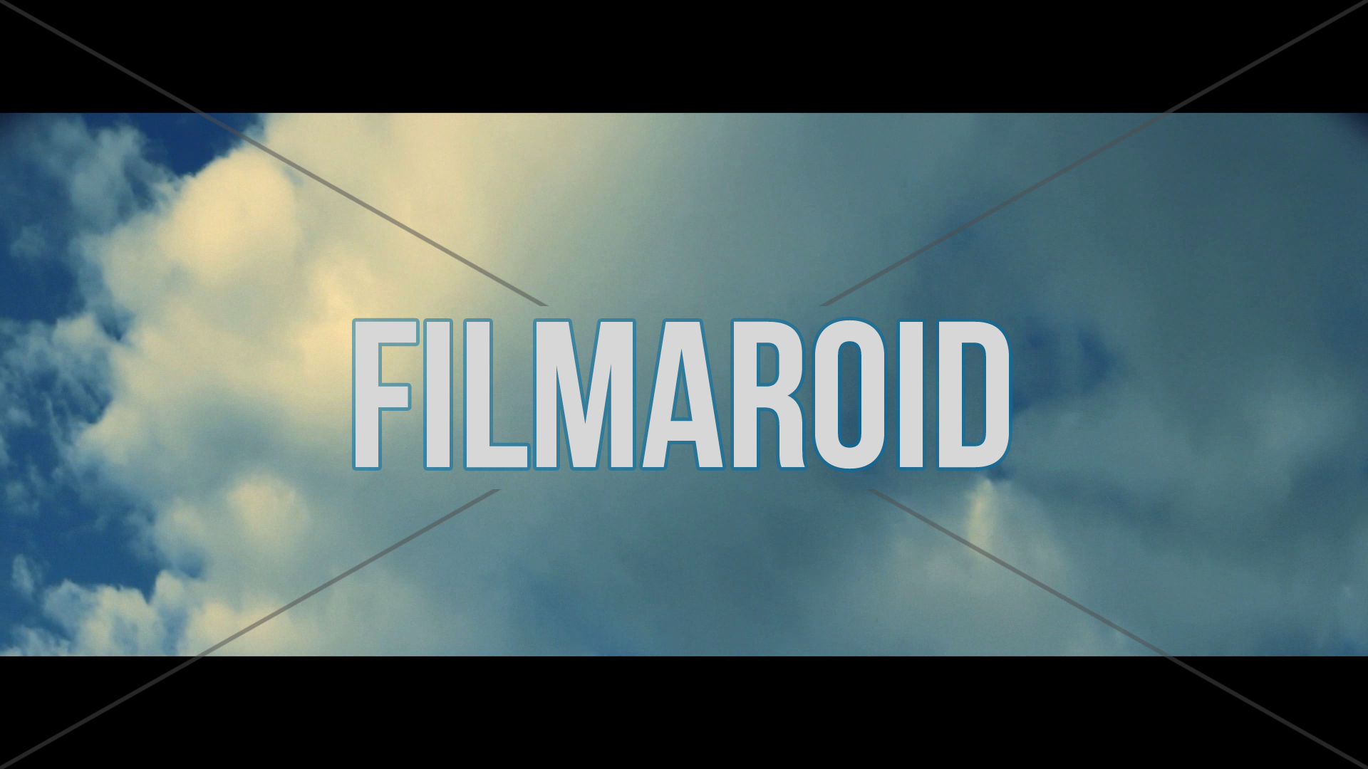 Anamorphic tilt up across dramatic blue sky with large and heavy white cloud - A collection of stock footage for backgrounds